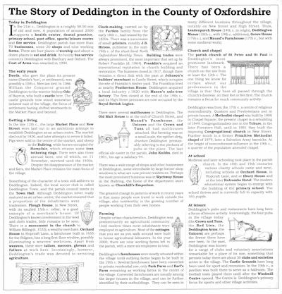 Story of Deddington Millennium Poster