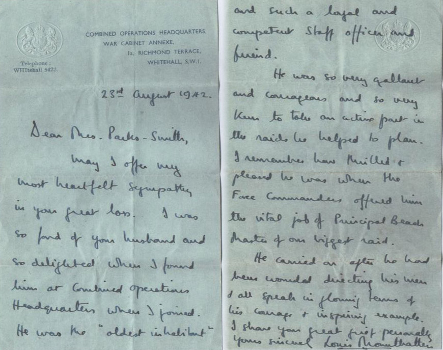 letter to lord montbatten Keywords: mountbatten harrison 12 commando e troop download letter sent from lord mountbatten to lt col harrison after a visit to no 12 commando troop mentioned is e troop commanded by lt pinckney.